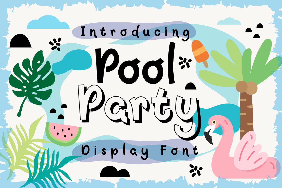 Print on Demand: Pool Party Display Font By Caoca Studio