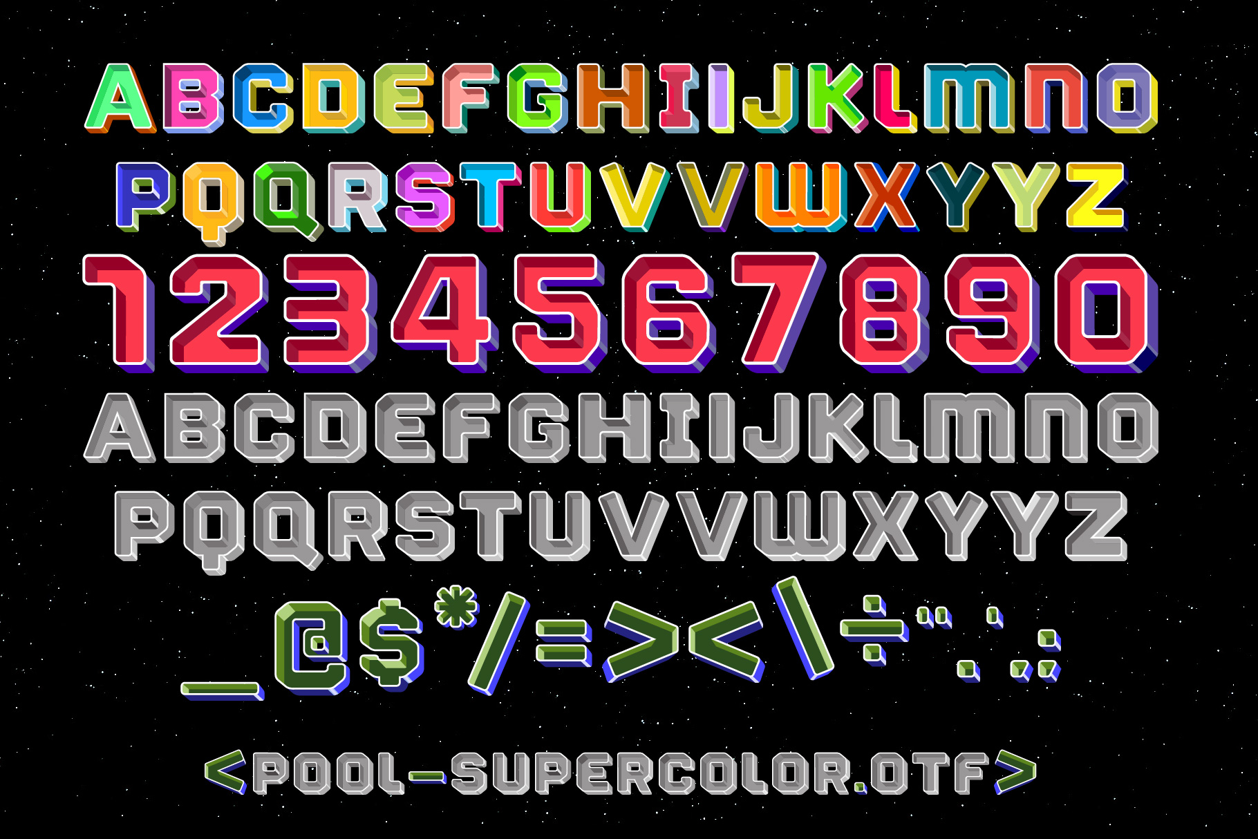 Print on Demand: Pool Color Fonts Font By Tipos Pereira - Image 6