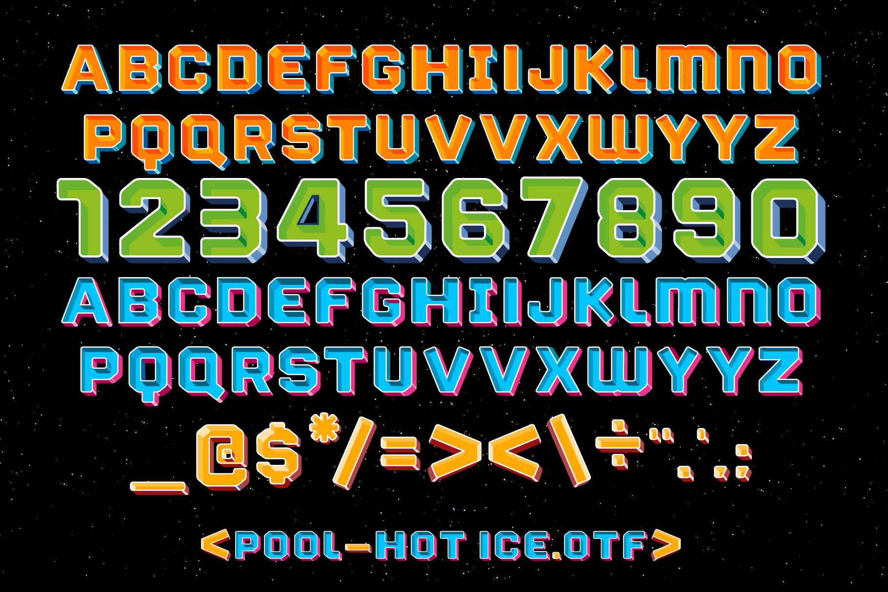 Print on Demand: Pool Color Fonts Font By Tipos Pereira - Image 8