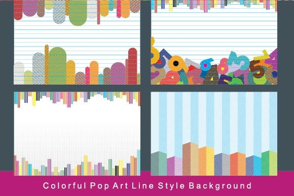 Pop Art Line Background Graphic Backgrounds By emnazar2009