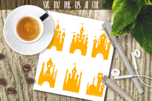 Download Free Princess Castle Graphic By Vector City Skyline Creative Fabrica for Cricut Explore, Silhouette and other cutting machines.