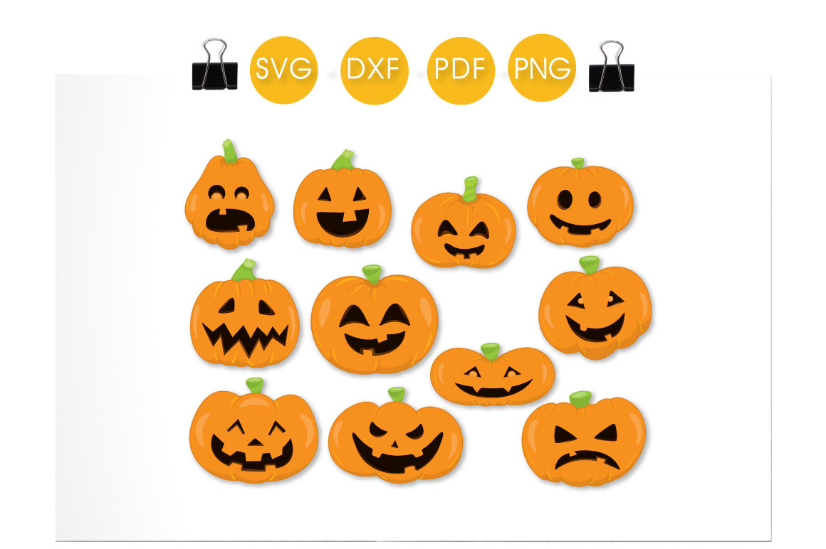 Download Free Pumpkin Faces Grafik Von Prettycuttables Creative Fabrica for Cricut Explore, Silhouette and other cutting machines.