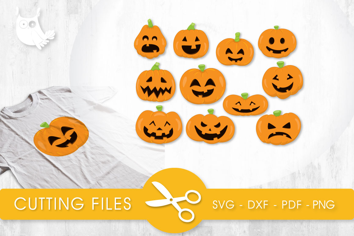 Download Free Pumpkin Faces Graphic By Prettycuttables Creative Fabrica for Cricut Explore, Silhouette and other cutting machines.