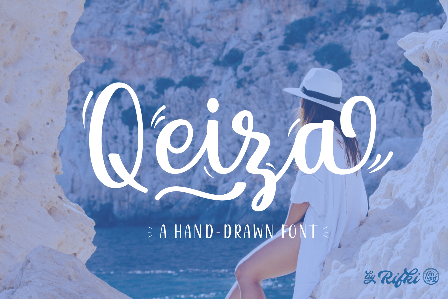 Print on Demand: Qeiza Script & Handwritten Font By Rifki (7ntypes)