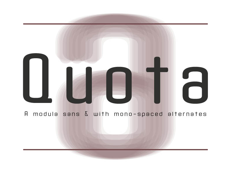 Print on Demand: Quota Sans Serif Font By ryan.williamson