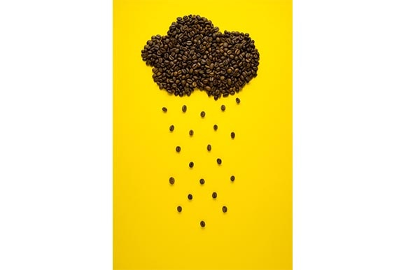 Raining Coffee Graphic Food & Drinks By Sasha_Brazhnik