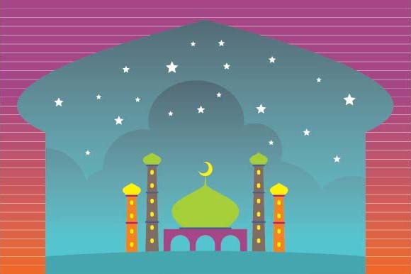 Ramadan and Happy Eid Background Graphic Illustrations By emnazar2009