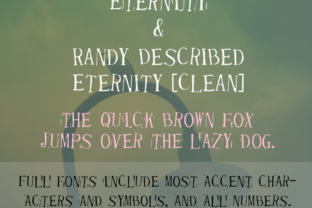 Randy Described Eternity Font By Quick Brown Fox Fonts