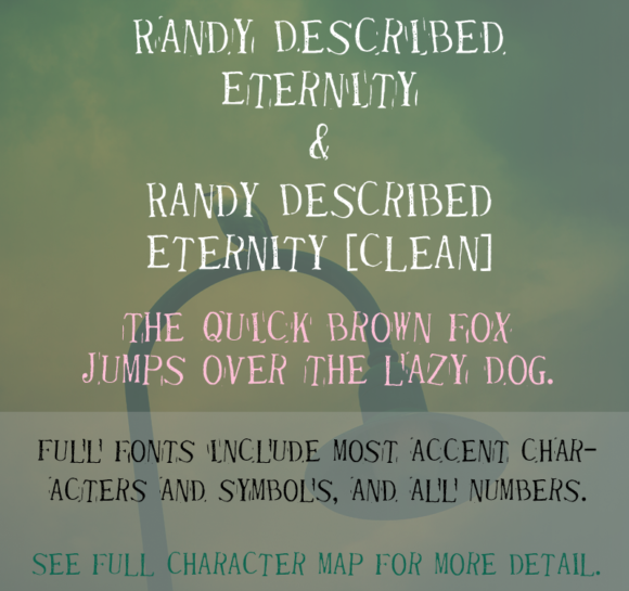 Print on Demand: Randy Described Eternity Decorative Font By Quick Brown Fox Fonts