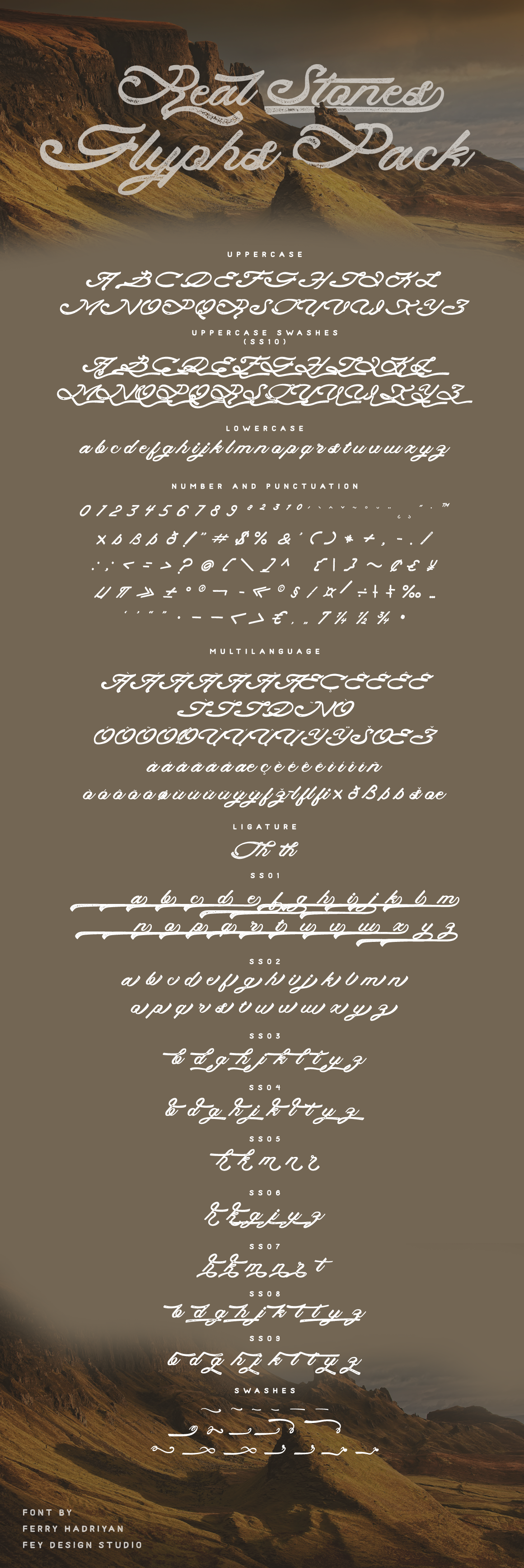 Print on Demand: Real Stones Script & Handwritten Font By feydesign - Image 2
