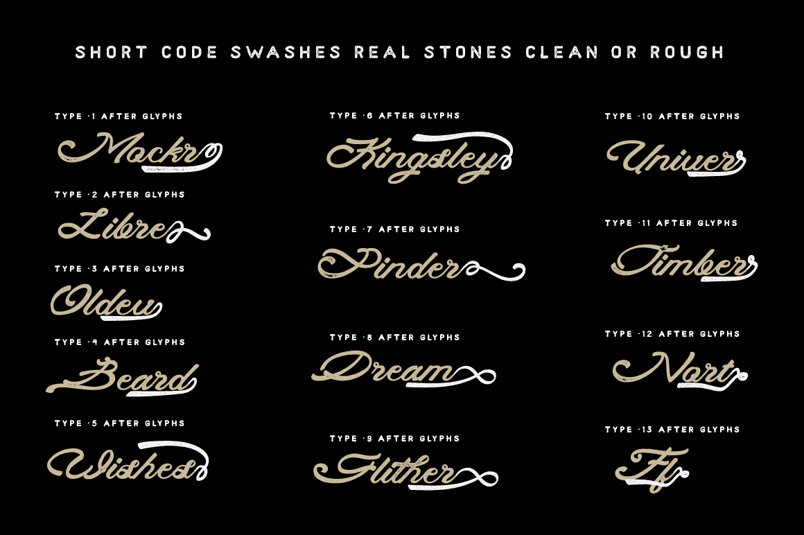 Print on Demand: Real Stones Script & Handwritten Font By feydesign - Image 3