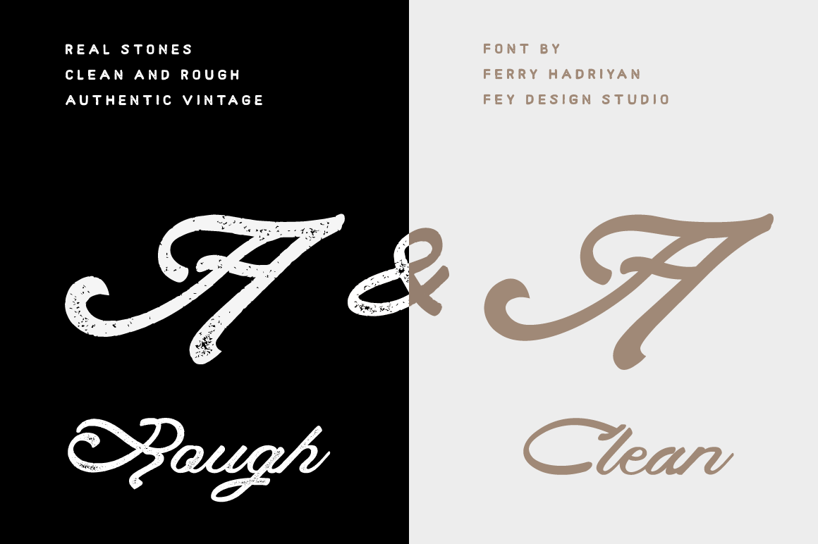 Print on Demand: Real Stones Script & Handwritten Font By feydesign - Image 4