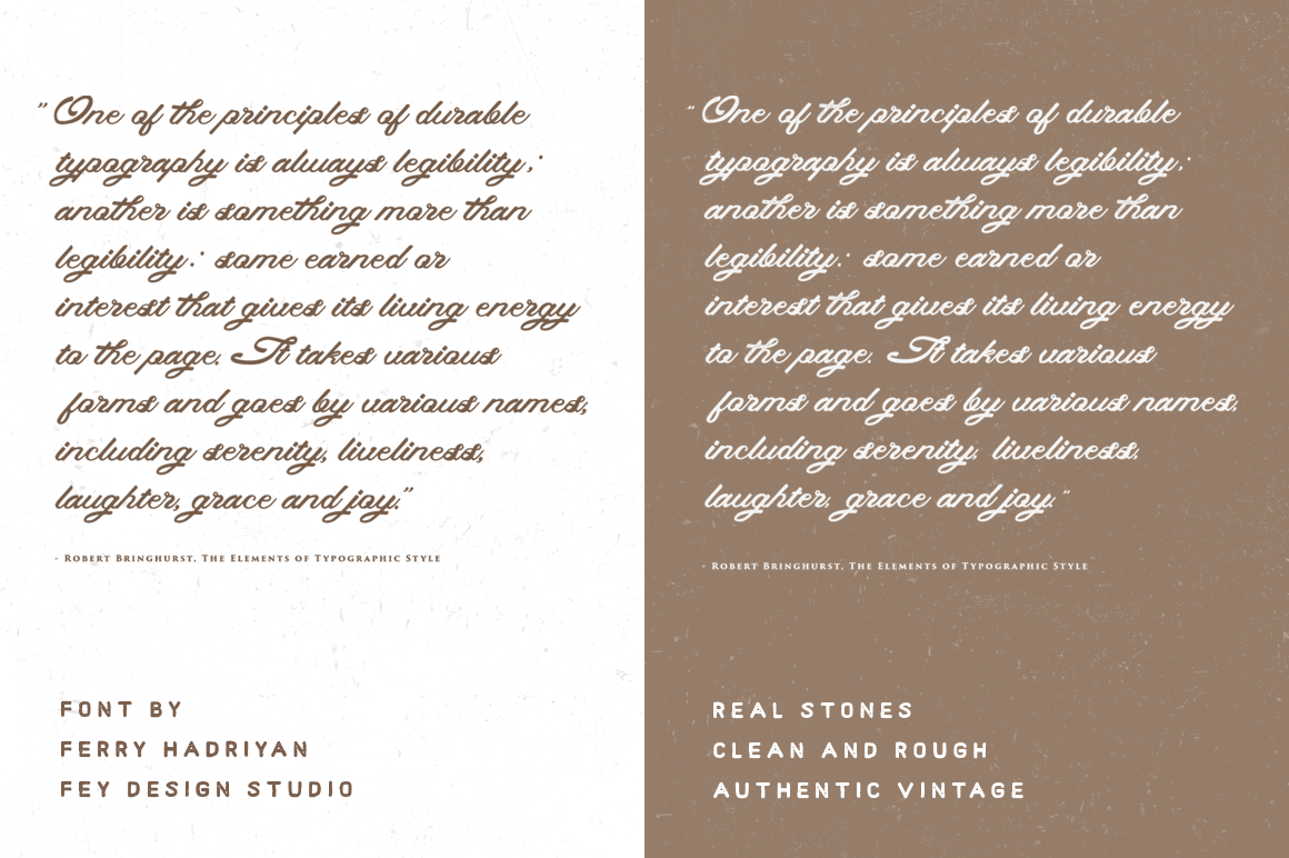 Print on Demand: Real Stones Script & Handwritten Font By feydesign - Image 5