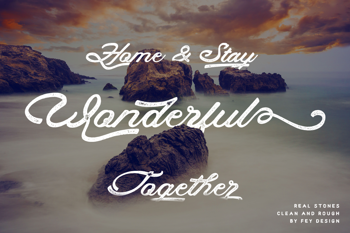 Print on Demand: Real Stones Script & Handwritten Font By feydesign - Image 6