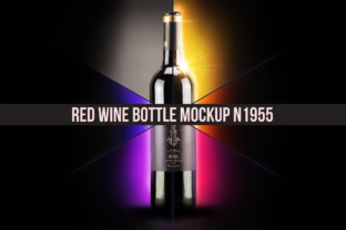 Download Free Red Wine Bottle Mockup Grafico Por Bmachina Laboratories for Cricut Explore, Silhouette and other cutting machines.