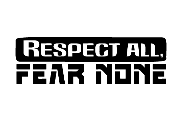 Download Free Respect All Fear None Svg Cut File By Creative Fabrica Crafts Creative Fabrica for Cricut Explore, Silhouette and other cutting machines.