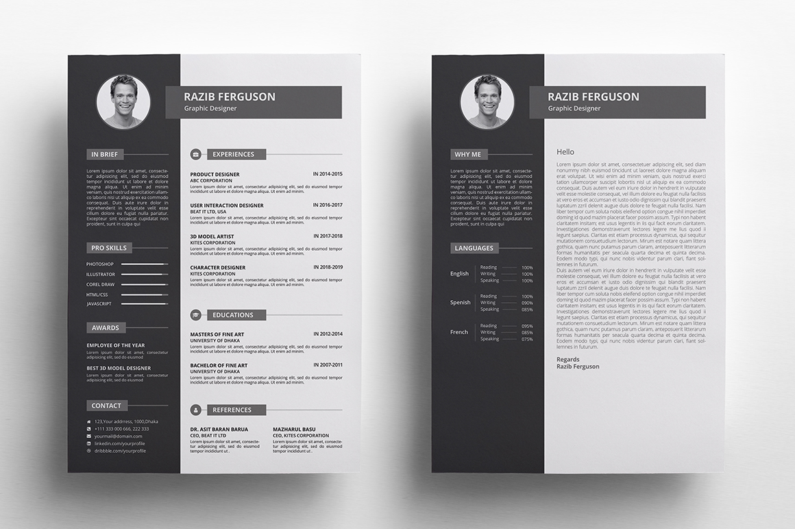 resume    cv graphic by rongmistiry