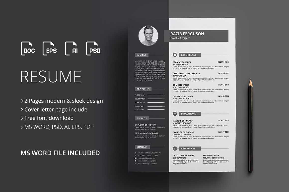 Resume / CV Graphic By Rongmistiry