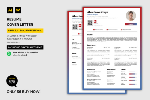 Download Free Resume Cover Letter Graphic By Machruzah Creative Fabrica for Cricut Explore, Silhouette and other cutting machines.