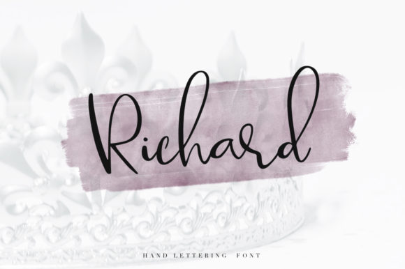 Print on Demand: Richard Script & Handwritten Font By Pasha Larin - Image 1