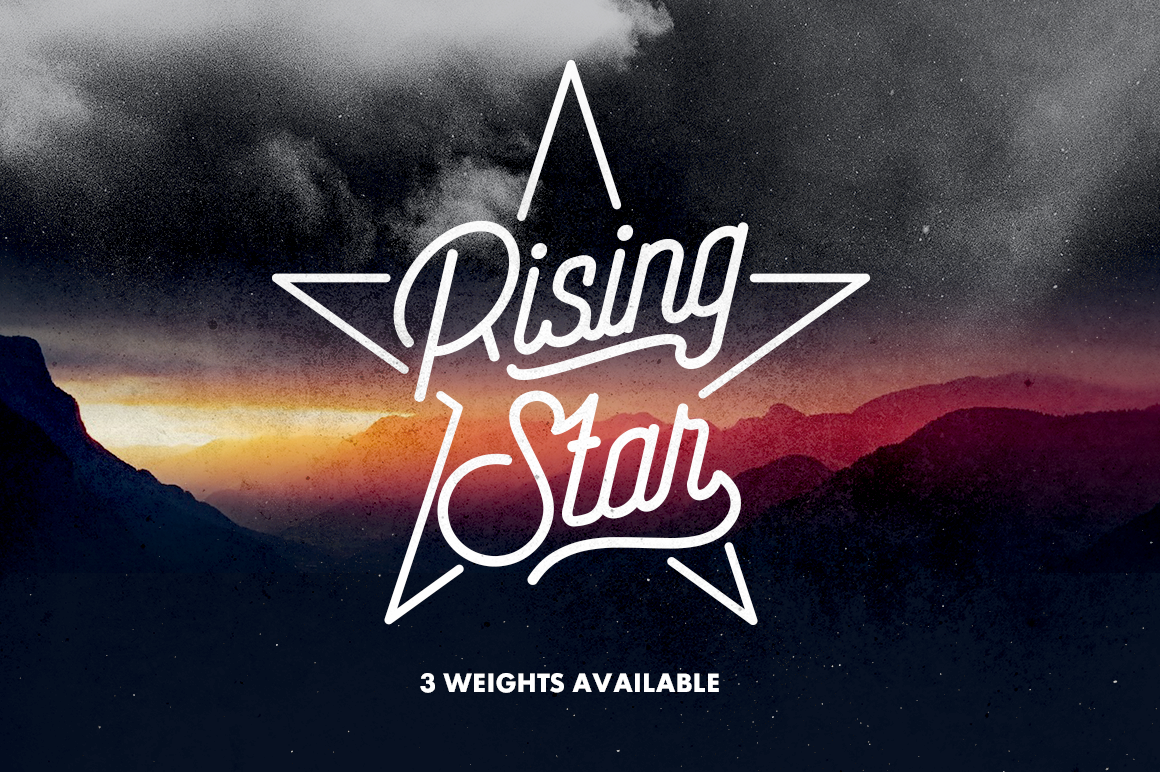 Print on Demand: Rising Star Script & Handwritten Font By Hindia Studio