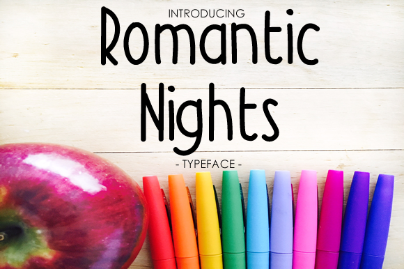 Print on Demand: Romantic Nights Script & Handwritten Font By yh.seaofknowledge