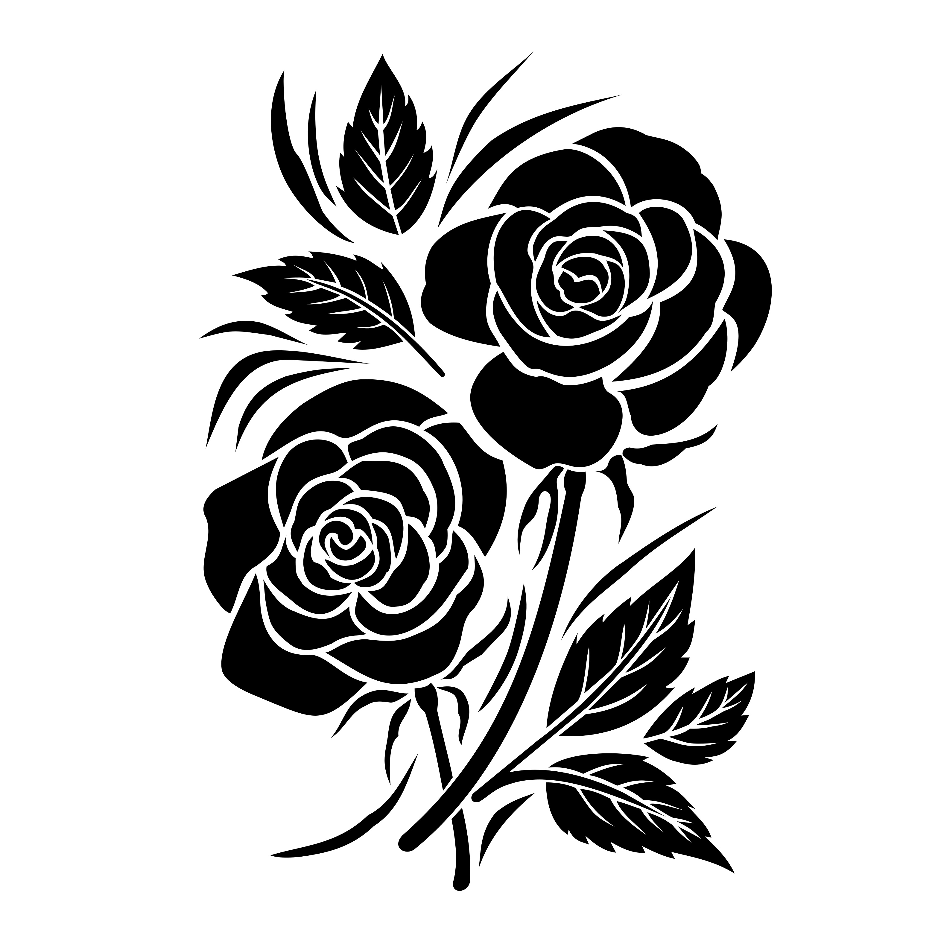 Rose flowers silhouette svg rose florals silhouette svg flower rose flowers silhouette svg rose florals silhouette svg flower bouquets svg graphic by little craft fun creative fabrica izmirmasajfo