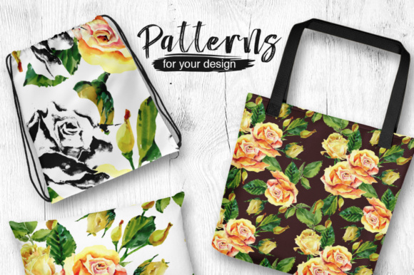 Print on Demand: Roses Flowers PNG Watercolor Set Graphic Illustrations By MyStocks - Image 2