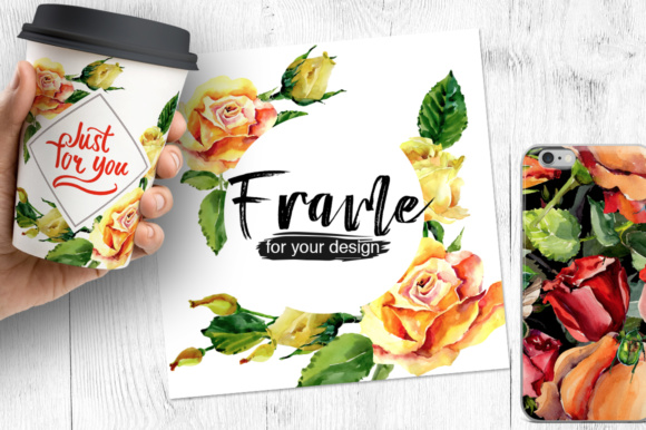 Print on Demand: Roses Flowers PNG Watercolor Set Graphic Illustrations By MyStocks - Image 3