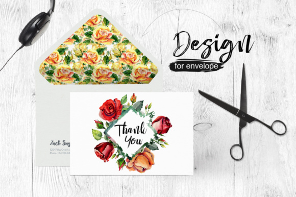 Print on Demand: Roses Flowers PNG Watercolor Set Graphic Illustrations By MyStocks - Image 4