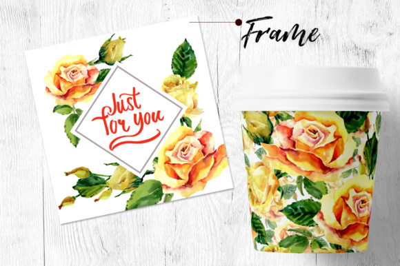 Print on Demand: Roses Flowers PNG Watercolor Set Graphic Illustrations By MyStocks - Image 6