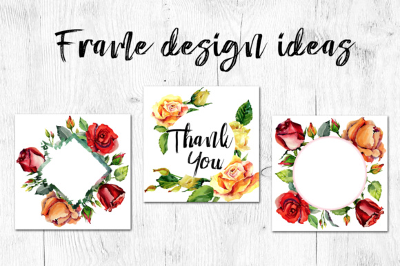 Print on Demand: Roses Flowers PNG Watercolor Set Graphic Illustrations By MyStocks - Image 7