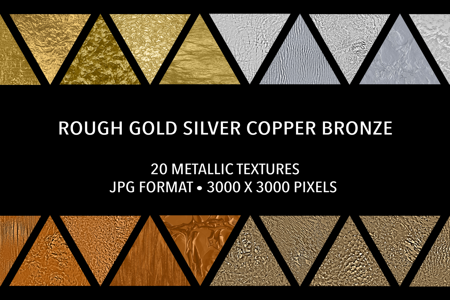 Print on Demand: Rough Gold Silver Copper Bronze Graphic Textures By JulieCampbellDesigns
