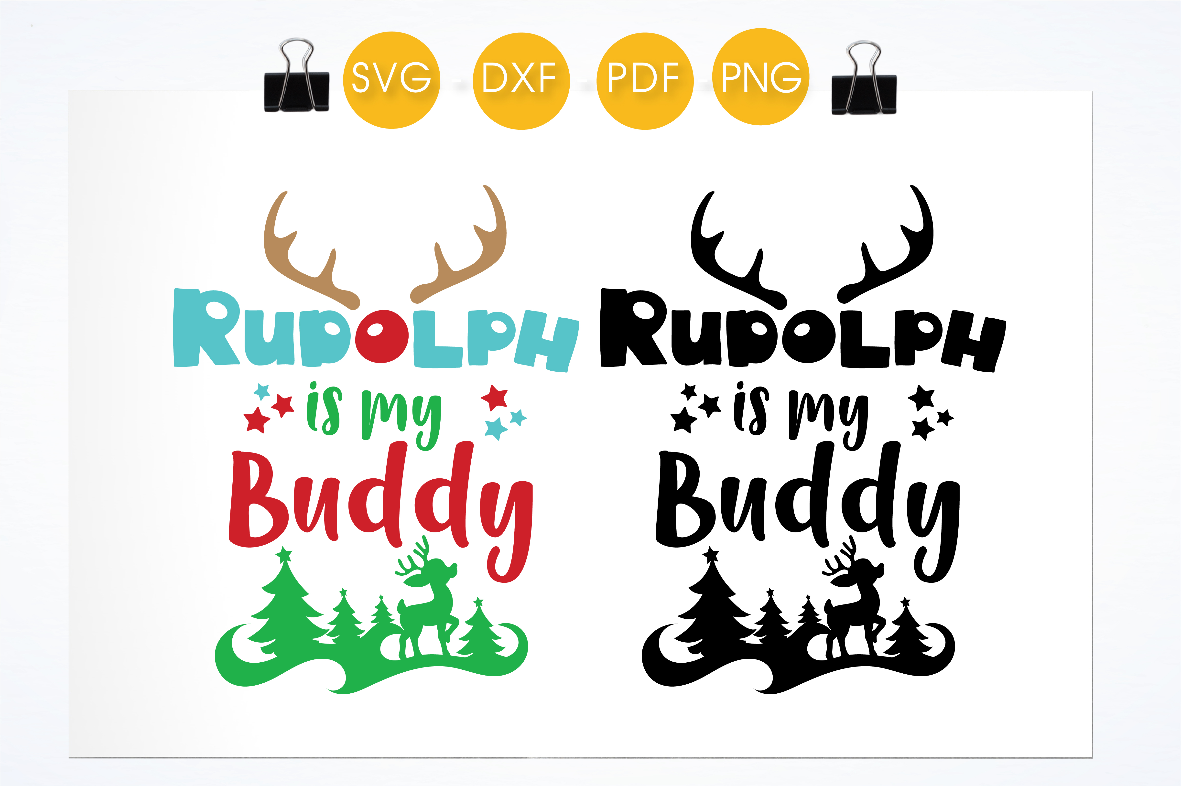 Rudolph is My Buddy Graphic Crafts By PrettyCuttables - Image 2