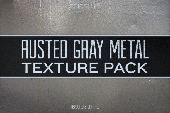 Rusted Gray Metal Texture Pack Graphic Textures By theshopdesignstudio