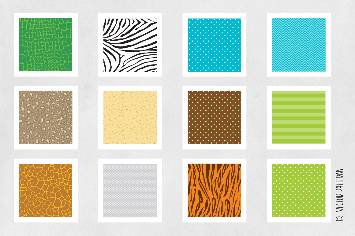 Print on Demand: Safari Graphic Patterns By Prettygrafik - Image 5
