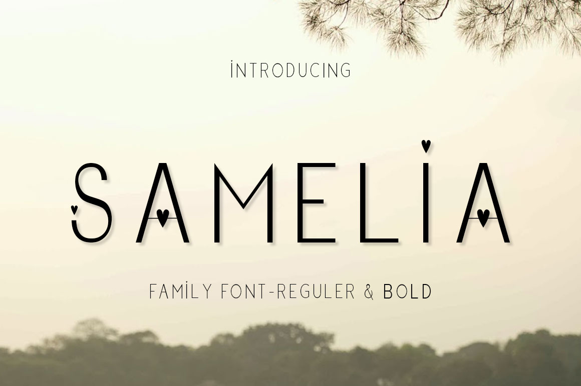 Download Free Samelia Font By Jhoeldesign Creative Fabrica for Cricut Explore, Silhouette and other cutting machines.