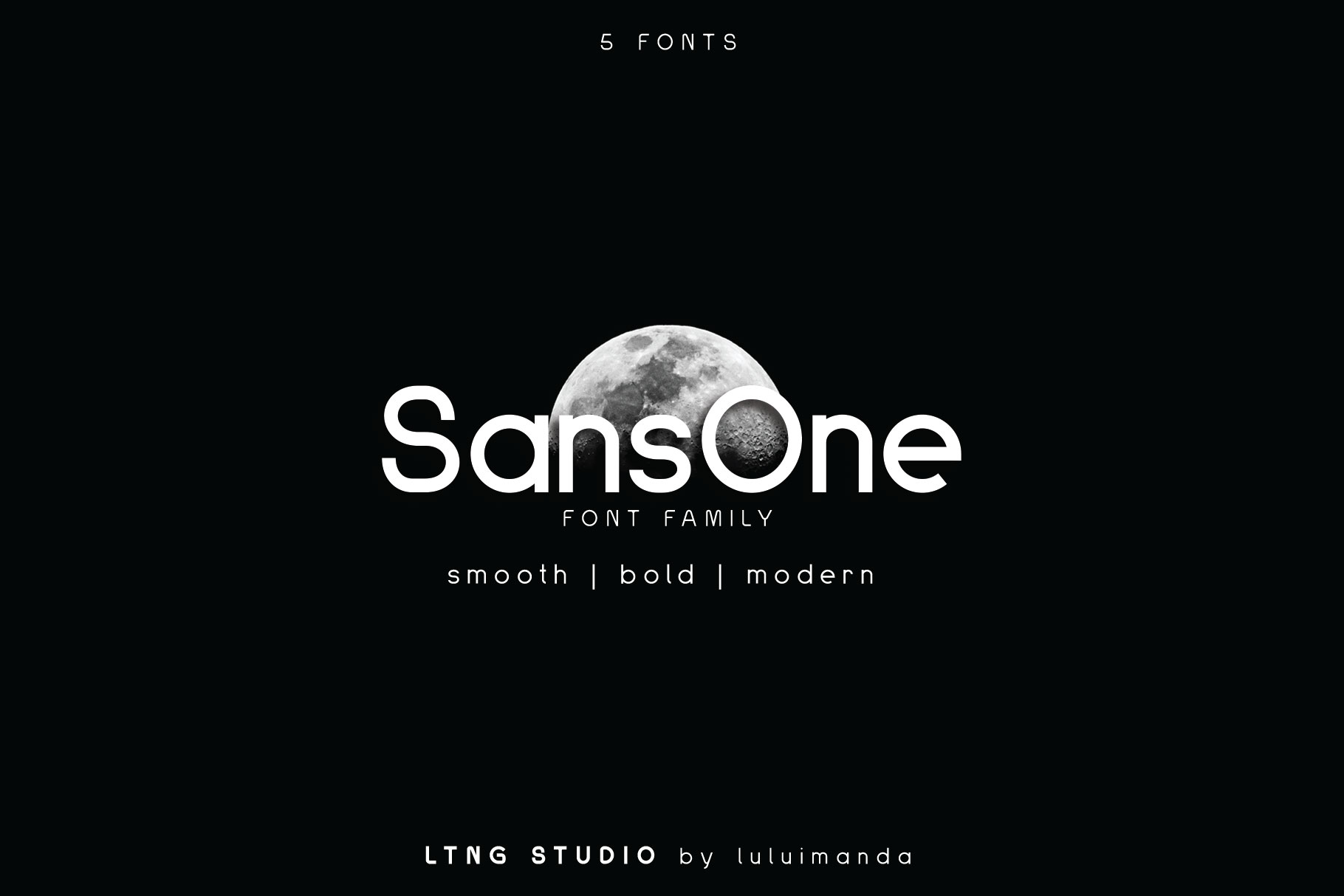 Print on Demand: Sans One Sans Serif Fuente Por LTNG