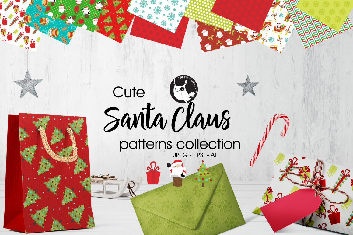 Print on Demand: Santa Claus Graphic Patterns By Prettygrafik
