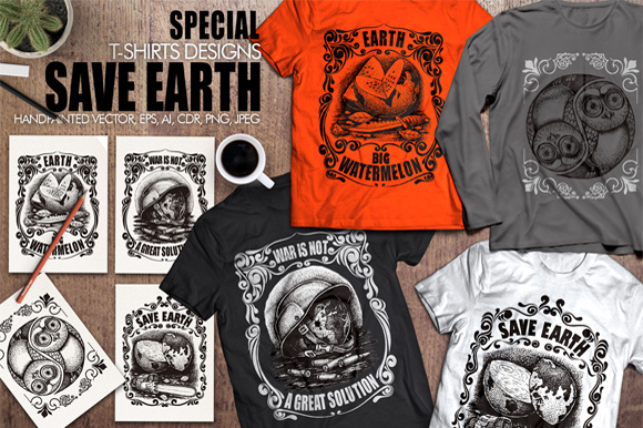 Save Earth Graphic Illustrations By Graphobia