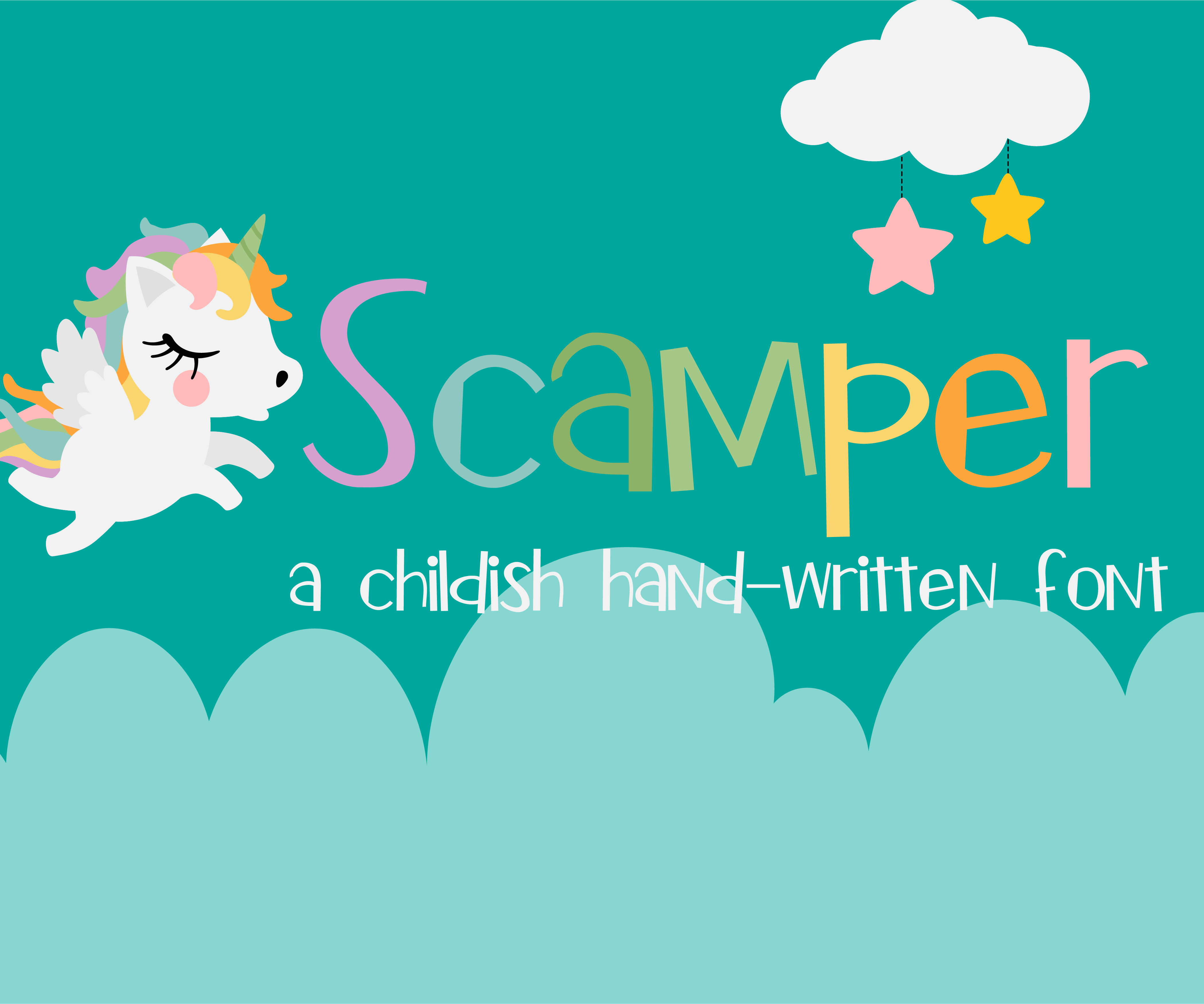 Print on Demand: Scamper Script & Handwritten Font By Illustration Ink