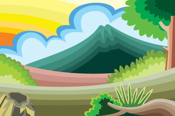 Scenery of Mountain Graphic Illustrations By emnazar2009