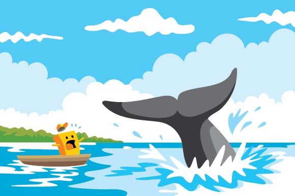 Scenery of Sea and Whales Graphic Illustrations By emnazar2009