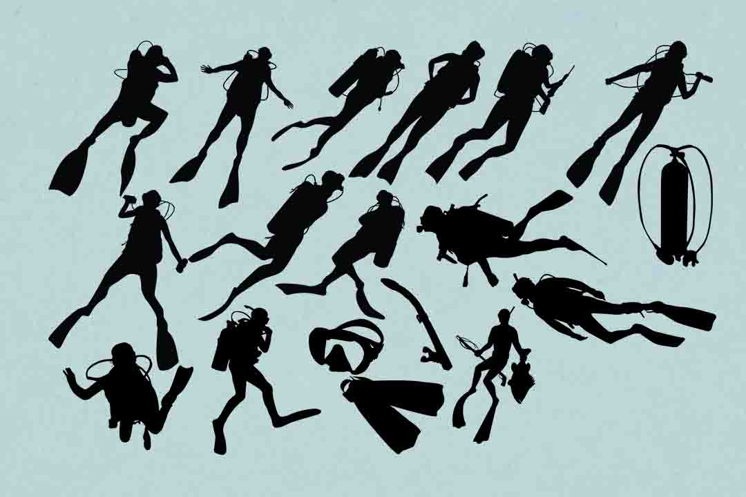 Scuba Divers Graphic By Retrowalldecor Creative Fabrica