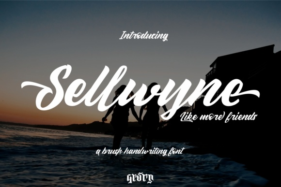 Print on Demand: Sellwyne Script & Handwritten Font By Garisman Studio