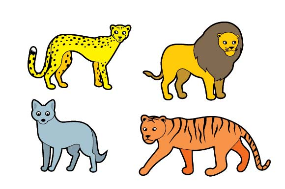 Set of 10 Cute Wild Animals Graphic Illustrations By emnazar2009 - Image 3