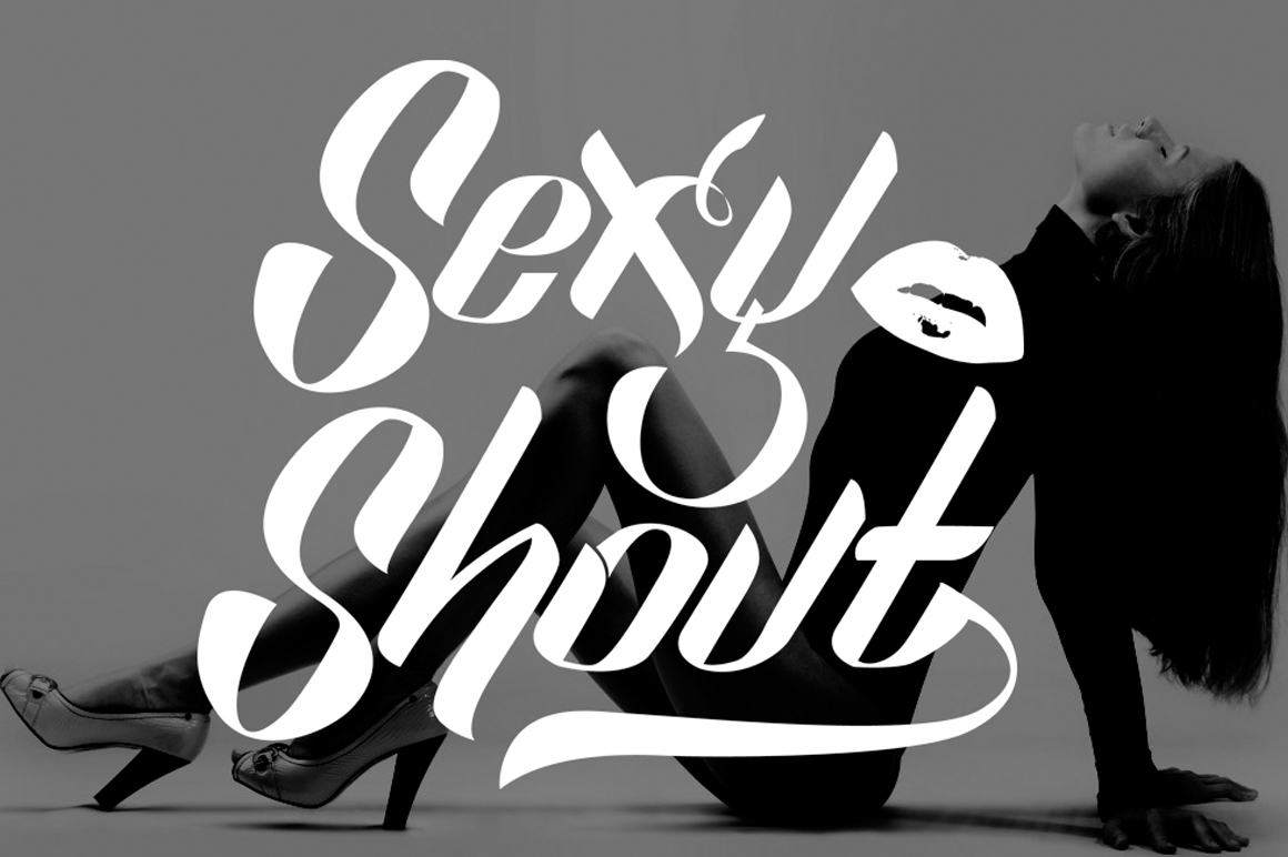 Print on Demand: Sexy Shout Display Font By feydesign - Image 8