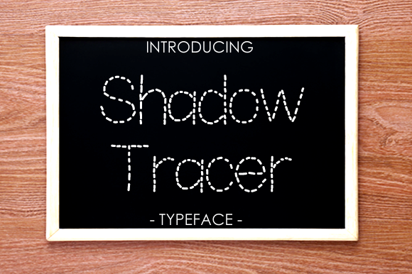 Print on Demand: Shadow Tracer Display Font By yh.seaofknowledge