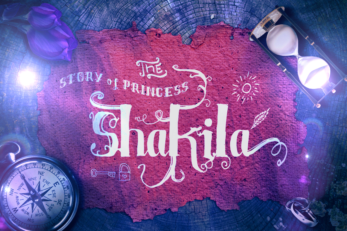 Print on Demand: Shakila Display Font By feydesign