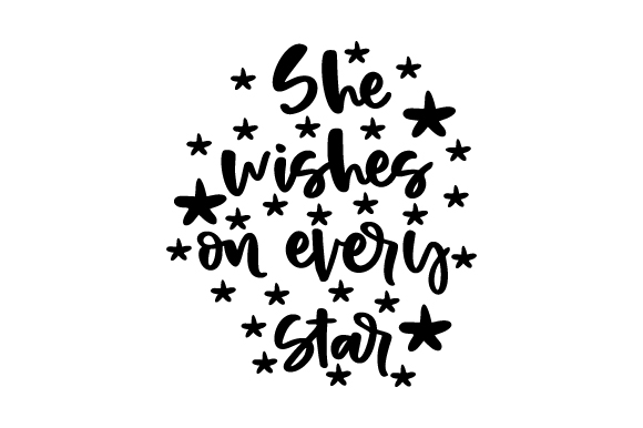 She Wishes on Every Star Bedroom Craft Cut File By Creative Fabrica Crafts